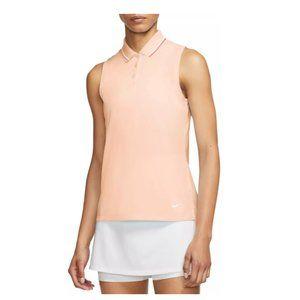 Nike Women's Dri-FIT Victory Sleeveless Golf Polo Pink SZ M